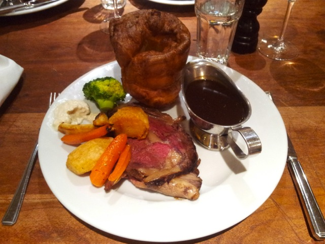 Check out the size of the Yorkshire pud!