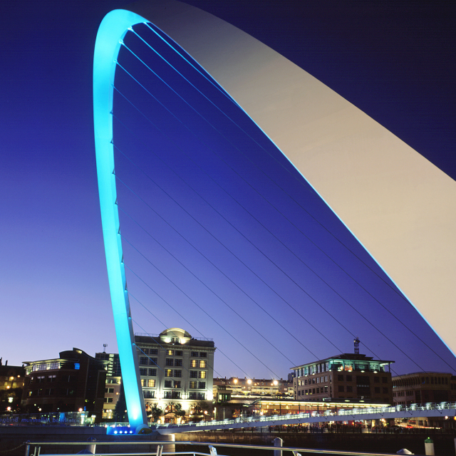 The Gateshead Millenium Bridge is stunning, especially at night!