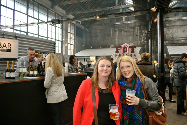 Me and my mate Gemma enjoying the refreshments at the Boiler Shop Steamer!