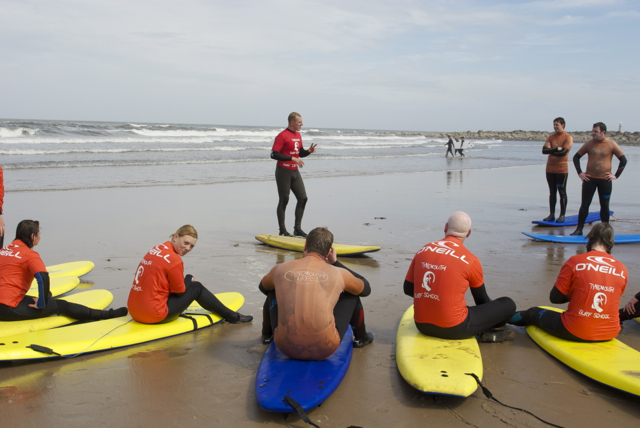 Learning the basics with Tynemouth Surf Co