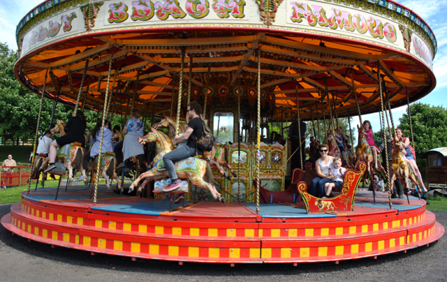 beamish, fairground, merry-go-round, coal, vintage, summer, merry go round, theme park, vintage, retro