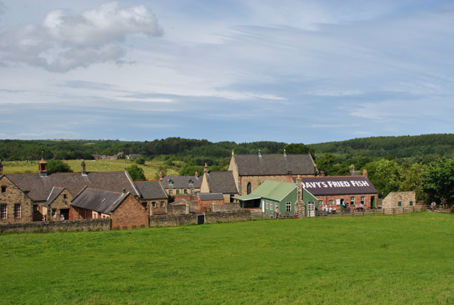 beamish pit village