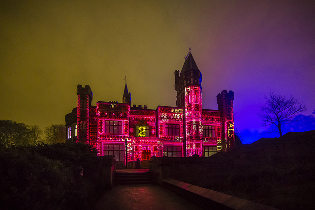 saltwell towers light installation